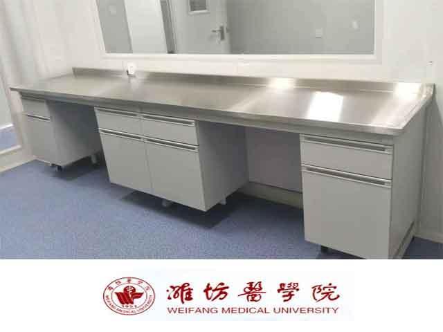 点击查看实际尺寸<br>标题:潍坊医学院实验室边台、实验室转角台等安装现场 阅读次数:338